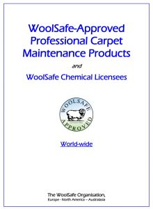 WoolSafe Approved Professional Products - Worldwide 2020-12-15